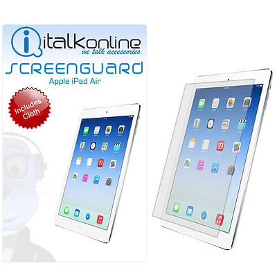 LCD Screen Protector Guard with Cloth and Card For Apple iPad Air 1 & 2