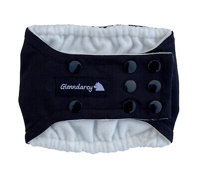 Dog Belly Band Nappy / Urine Marking / Incontinence - Waterproof Fabric - Black