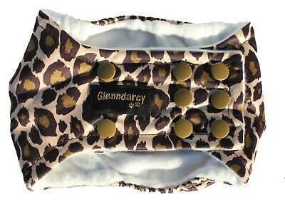 Glenndarcy Dog Belly Band Nappy I Waterproof Fabric I Leopard | Poppers