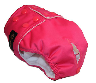Cerise Female Dog Diapers / Urine Incontinence - Waterproof Fabric - Poppers