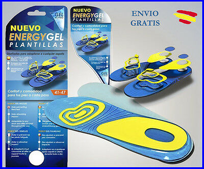 PLANTILLAS ENERGY GEL Todas las tallas Calzado CONFORT Pies Caminar VISTO en TV