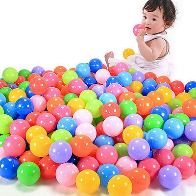 Lot 7cm Secure Baby Kid Pit Toys Swim Soft Plastic Fun Colorful Ocean Balls