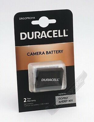 Duracell DRGOPROH4 GoPro Hero 4 (AHDBT-401) Rechargeable Battery New UK Stock