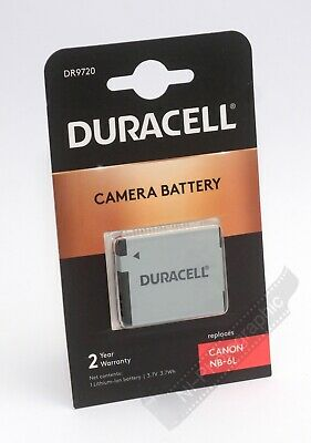 Duracell DR9720 Canon NB-6L Rechargeable Battery New UK Stock