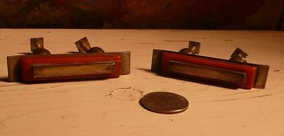 2 art deco TESTED bakelite metal Pull handles knobs 141 grams-0,310 lb (s14195)