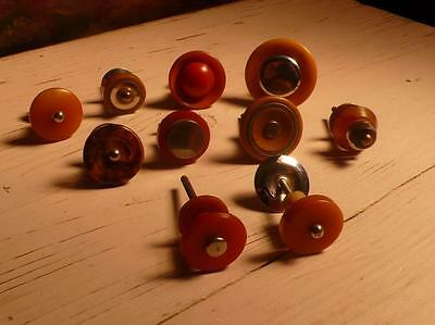 10 art deco TESTED bakelite metal Pull handles knobs 198 grams-0,436 lb (s12361)
