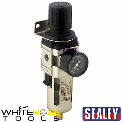 Sealey Air Line Filter Regulator Compressor Water Trap 70cfm Airflow