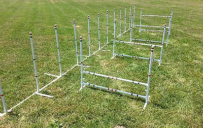 Dog Agility Equipment Jumps and Weaves Set  Versatile and FUN!!