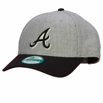 New Era and MLB 9Forty Heather Felt Medium Curve Cap ~ Atlanta Braves