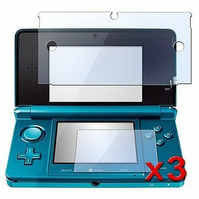 3 Pack Clear LCD Screen Protector Cover for Nintendo 3DS CY