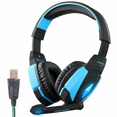 KOTION EACH G4000 Cuffie USB Stereo Gaming Headset con microfono Luce LED per PC