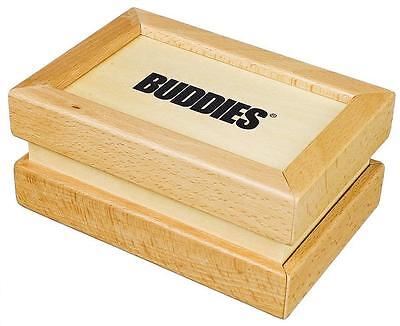 "BUDDIES WOODEN KIEF SIFTER POLLEN BOX SMALL 6.5"" IN X 4.5"" IN X 3"" IN, 50 Micron"