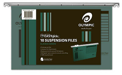 Olympic Easyglide Suspension File Green - 10 Pack