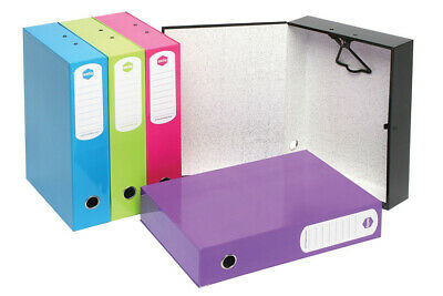 Marbig Box File Foolscap 75mm 500 Sheets Summer Colours - Pink