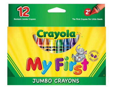 Crayola My First Jumbo Coloured Crayons 12 Pack
