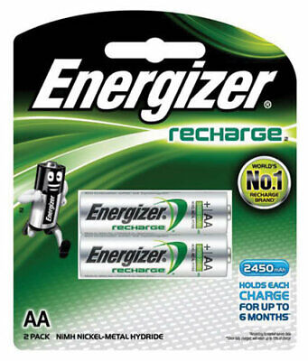 Energizer Recharge AA Rechargable Battery Batteries NH15BP2T - 2 Pack