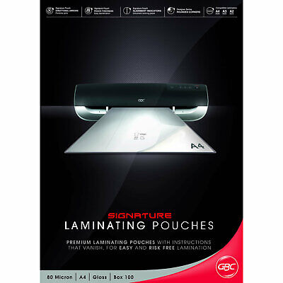 GBC Laminating Pouches Signature A4 80 micron 100 Pack
