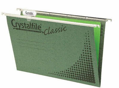 Crystalfile Classic Suspension File Foolscap Complete Green - 10 Pack
