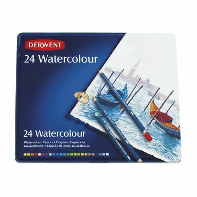 3 X Derwent R32883 Watercolour Pencils 24 Tin