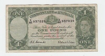 One Pound Paper Banknote Commonwealth of Australia Coombs Wilson E-353
