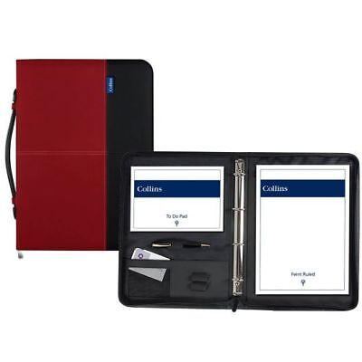 Collins Conference Ring Binder With Zip A4 Charcoal/Red
