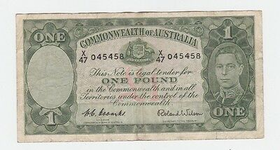 One Pound Paper Banknote Commonwealth of Australia Coombs Wilson E-371