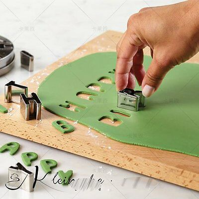 Alphabet Letter Number Cake Decorating Set Fondant Icing Cutter Mould stainless