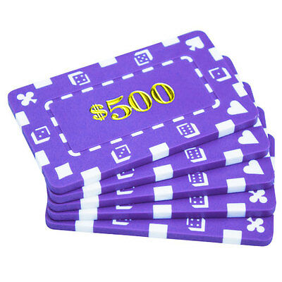 32G Poker plaques - 5x chips, $500 casino high stakes baccarat mahjong