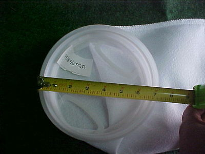 LOT of 5 PES 50 P2Q  Polyester 50 Micron filter bag sock biodiesel WVO WMO  tote
