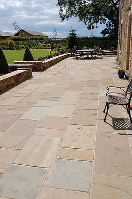 Natural Indian Sandstone RAJ GREEN Patio Paving Slabs Garden Flags *PREMIUM*