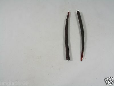"""2 pc curved horn red dyed, Hair Pin, Size 6 """" (150 mm) long,"""