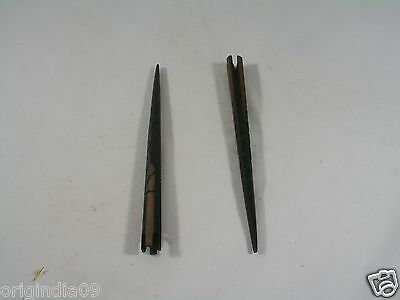 """2 pc wood carved top, Hair Pin, Size 6 """" (150 mm) long,"""