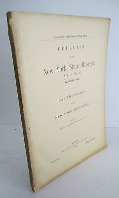1898 NYS Museum Bulletin NEW YORK ABORIGINEES EARTHENWARE, Illustrated