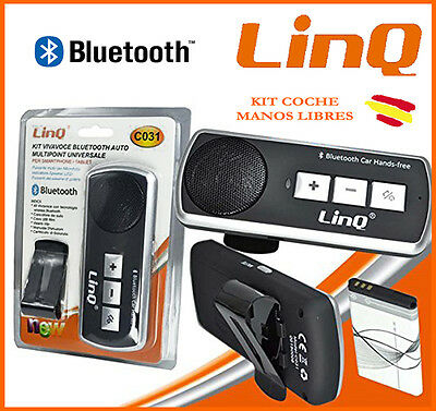 Kit MANOS LIBRES Bluetooth para COCHE LINQ C031 Universal Samsung Iphone