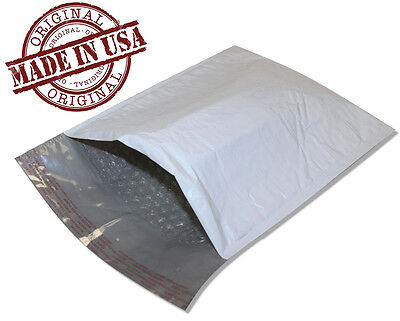 "500 #000 4""x8"" POLY BUBBLE MAILERS SELF SEAL WHITE PLASTIC BAGS ENVELOPES 4x8"