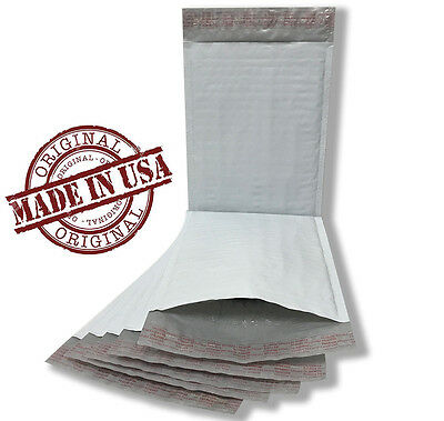 250 #0 6 x 10 POLY BUBBLE MAILERS SELF SEAL WHITE PLASTIC BAGS ENVELOPES 6x10