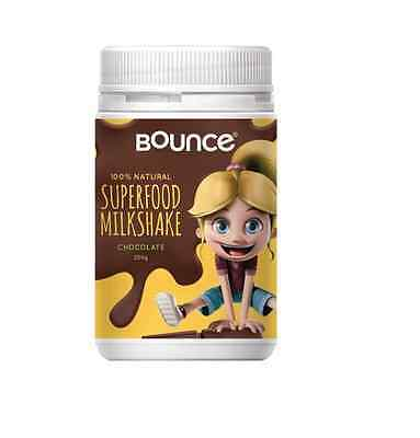 BOUNCE NATURAL HIGH Real Chocolate Superfood Shake for Kids 250g