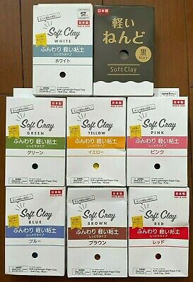 1 x box of Daiso Soft Clay - 11 available colors - Made In Japan Japanese Slime