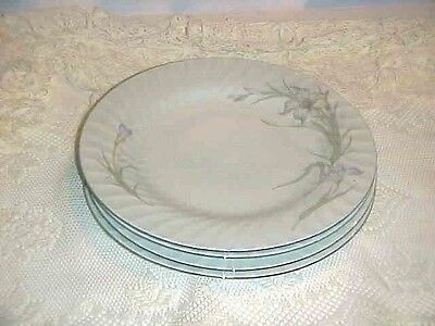 Universal Porcelain China Lavender Lillies Pattern Dinner Plate Set