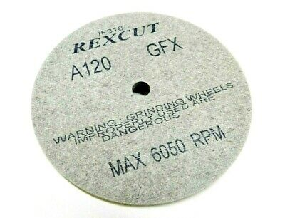 "REX CUT Wheel 1/4"" Thick GFX A120 GRIT 6""x1/4""x1/2"" Fiber MX Deburring Wheels"