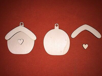 10 x BIRDHOUSE shape n23 8cm PLAIN WOODEN EMBELLISHMENT GIFT CRAFT HANGING TAG