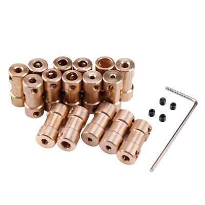 2/2.3/3/3.17/4/5mm Motor Copper Shaft Coupling Coupler Connector Sleeve Adapter