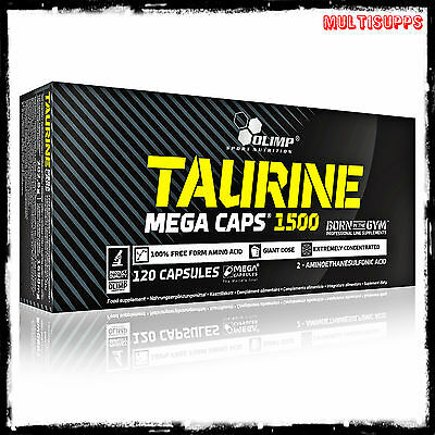 Olimp Taurine 1500mg Mega Caps 120 caps amino acids energy & strenght booster