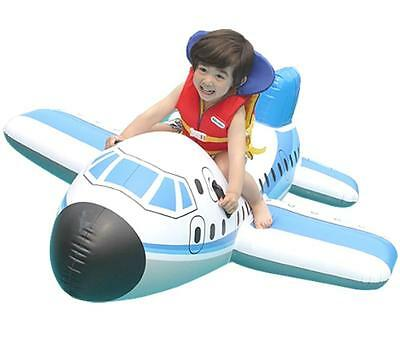 Large Size Kids Inflatable Airplane Boat Swimming Twins Floating Ring 2 Babies