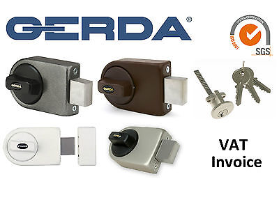 Gerda High Quality Surface Mounted Door Lock 3 Keys 4 Colours ZN100