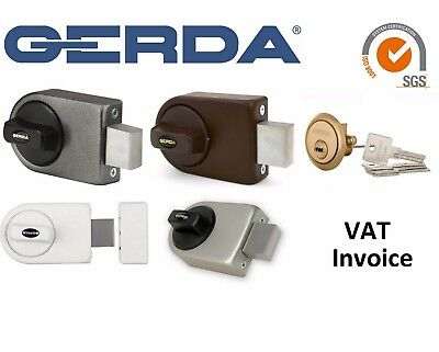Gerda High Quality Surface Mounted Door Lock 4 Keys 4 Colours ZN200