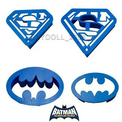 Superman batman Shaped Biscuit Cake Pastry Cookie Fondant Cutter