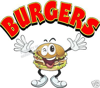 "Burgers Decal 14"" hamburgers Restaurant Concession Food Truck Vinyl Menu Sticker"