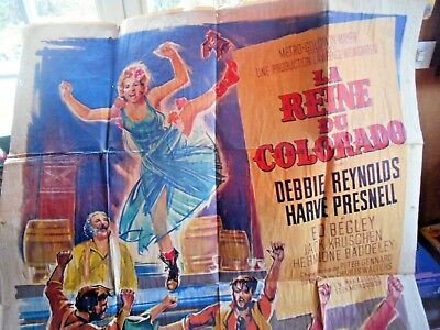 "Grande Affiche De Cinema Ancienne ""la Reine Du Colorado"""