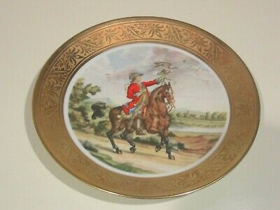"Vintage Bavarian  Decorative Collector Plate Incesione Oro 10"" Diameter"